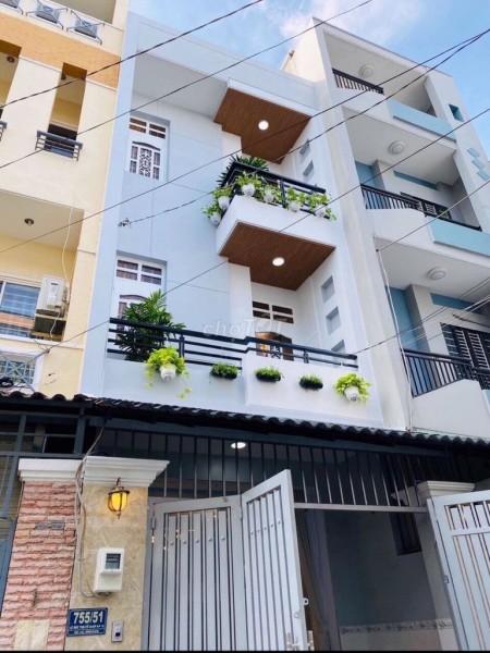 Nhà mới hẻm rộng 6m trên đường Chu Văn An phường 26 quận Bình Thạnh. Diện tích 4x18m _ Giá 19 triệu/tháng, 180m2, 4 phòng ngủ, 4 toilet