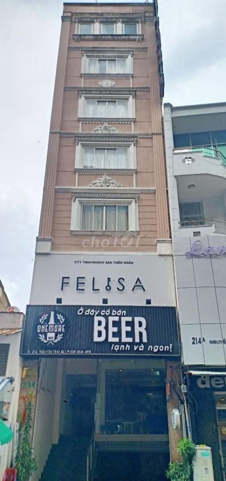 Cho thuê nhà kinh doanh mặt tiền đường Trần Quang Khải diện tích 4.3 x 24 1 trệt 5 lầu, 100m2, 1 phòng ngủ, 1 toilet