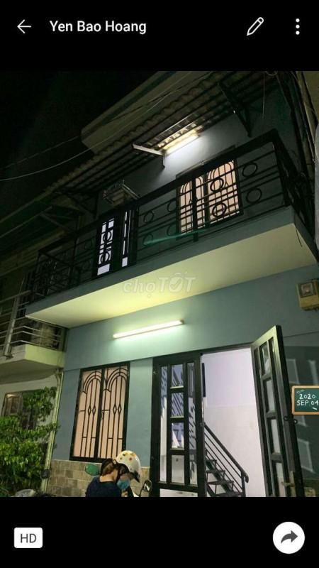 Nhà cho thuê nguyên căn tại đường Nơ Trang Long quận Bình Thạnh. Nhà 1 trệt 1 lầu mới toanh, hẻm xe hơi, 18m2, 2 phòng ngủ, 2 toilet