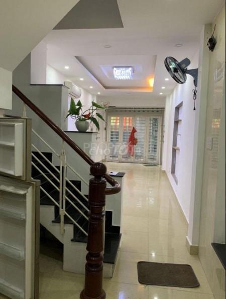 Cho thuê nhà nguyên căn giá rẻ tại đường Nguyễn Cảnh Chân P. Cầu Kho Quận 1. Nhà 4 tầng giá thuê 18 triệu/tháng, 150m2, 5 phòng ngủ, 3 toilet