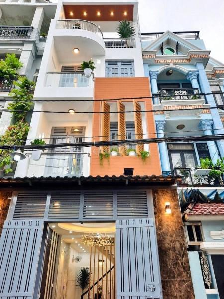 Nhà mới cần cho thuê diện tích 4m x 16m, 1 trệt, 3 lầu, 5 phòng ngủ, giá cho thuê 24 triệu/tháng, 96m2, 5 phòng ngủ, 5 toilet