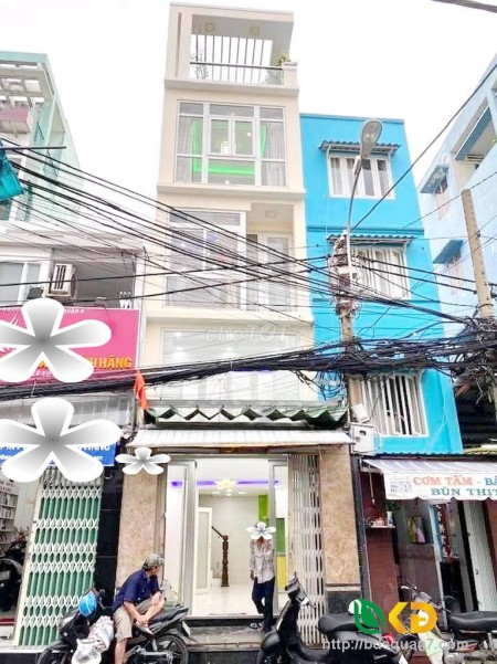Cho thuê nhà nguyên căn 3 tầng mặt tiền đường Xóm Chiếu phường 14 quận 4, 35m2, 3 phòng ngủ, 4 toilet