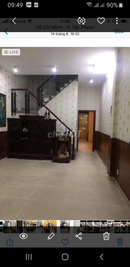 Cho thuê nhà nguyên căn 4m x 16m, 1 trệt 2 lầu và 1 sân thượng, tại Dương Đức Hiền Quận Tân Phú, 64m2, 4 phòng ngủ, 4 toilet