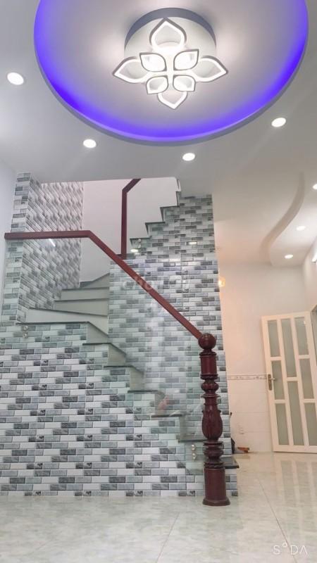 Cho thuê nhà rộng 24m2, 1 trệt, 1 lửng,1 lầu, hẻm thông Quận 8, giá 6 triệu/tháng, lh 0764963227, 24m2, 2 phòng ngủ, 2 toilet