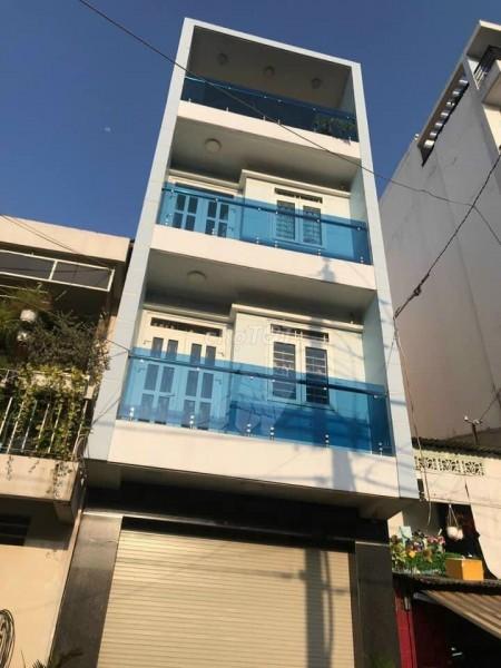 Nhà cho thuê nguyên căn rộng 4m dài 18m, 4 tầng kiên có, nhà mới hẻm lớn trên đường Phạm Ngọc Thạch, Quận 3, 72m2, 4 phòng ngủ, 4 toilet