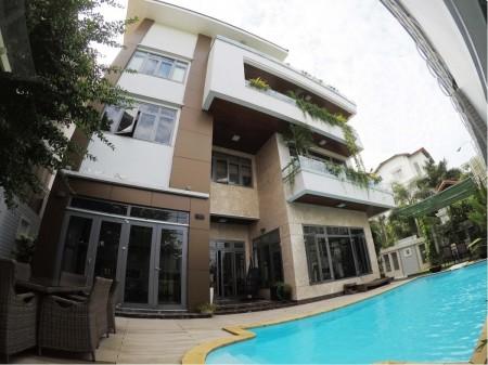 Cho thuê villa Thảo Điền 1200m2, trệt 3 lầu 9 phòng thiết kế hiện đại có hồ bơi, 1.200m2, 9 phòng ngủ, 9 toilet