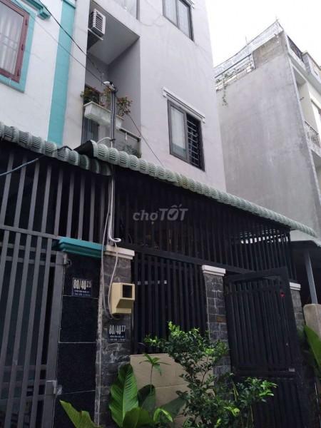 Nhà cho thuê nguyên căn 1 trệt 2 lầu hẻm xe hơi đường Bình Triệu Thủ Đức, 54m2, 2 phòng ngủ, 3 toilet