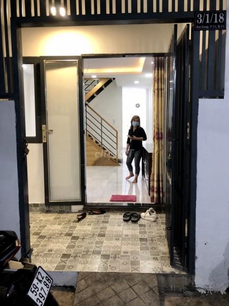 Cho thuê nhà nguyên căn 3.5m x 12m,1 trệt 1 lầu tại 3/18 Đội Cung, Quận 11, 40m2, 2 phòng ngủ, 2 toilet