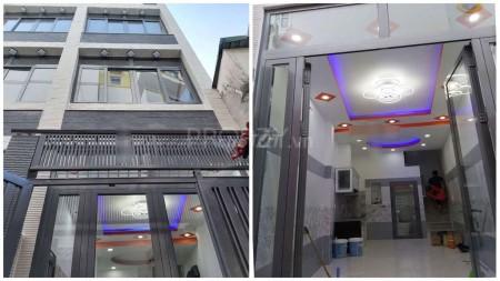 Cho thuê nhà nguyên căn 1 trệt 2 lầu, 2 phòng ngủ lớn, tại Hoàng Diệu Quận 4, 28m2, 2 phòng ngủ, 3 toilet