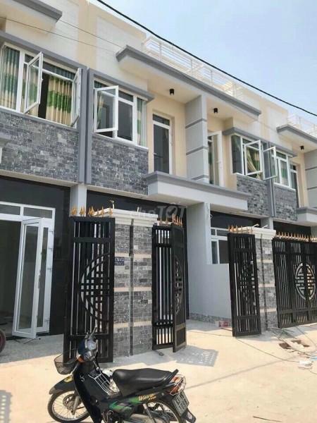 Cho thuê nhà nguyên căn 1 trệt 1 lầu khu nhà liên kề siêu đẹp, mới tinh, dt 4m x 16m, 64m2, 2 phòng ngủ, 3 toilet