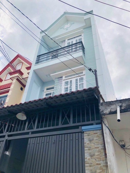 Cần cho thuê nhà nguyên căn rộng 72m2, 1 trệt, 2 lầu, giá. 7.5 triệu/tháng, đường Nguyễn Thị Đặng, Quận 12, 72m2, 4 phòng ngủ, 4 toilet