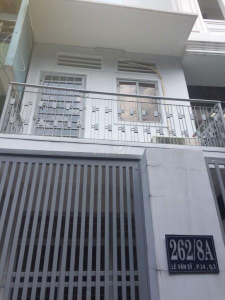 Cho thuê nhà rộng 57m2, 2 tầng, 2 PN, kiến trúc đẹp, hẻm 262 Lê Văn Sỹ, Quận 3, 57m2, 2 phòng ngủ, 2 toilet