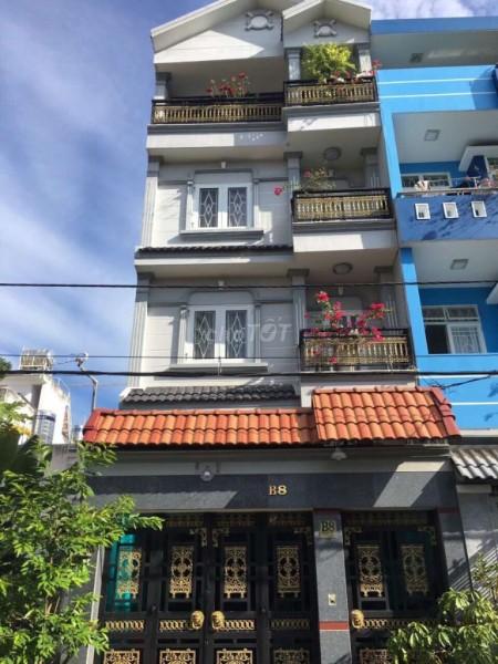 Cho thuê nhà nguyên căn 5m x 16m, 1 trệt, lững và 3 lầu tại KDC Lô B Hoàng Quốc Việt Q7, 80m2, 4 phòng ngủ, 5 toilet