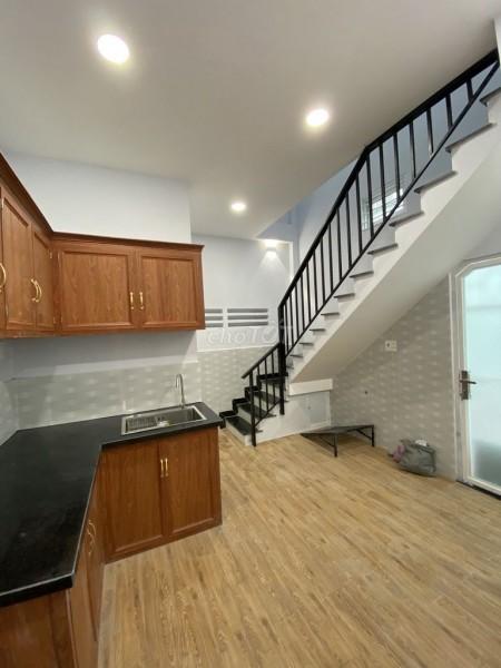 Cho thuê nhà nguyên căn 1 lầu mới tinh trên đường Phan Văn Trị, quận 5, 52m2, 2 phòng ngủ, 2 toilet