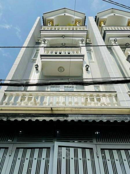 Cho thuê nhà nguyên căn ngang 4m, dài 17m, có sẵn nội thất cao cấp tại Bàu Cát 3, Tân Bình, 68m2, 5 phòng ngủ, 4 toilet