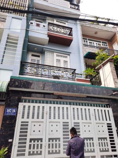 Nhà 72m2 (4mx18m) cần cho thuê có sân thượng, 4, tầng, giá 11 triệu/tháng, hẻm 107/16 Đông Hưng Thuận 17, 72m2, ,